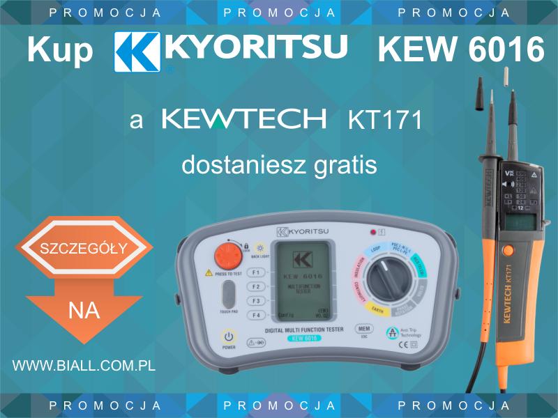 Promocja: Kup miernik wielofunkcyjny Kyoritsu KEW6016, a tester elektryczny KT171 dostaniesz gratis