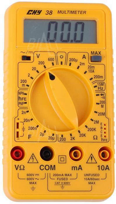 Zdjęcie produktu: CHY38 Multimetr cyfrowy  Hz,C.hFE