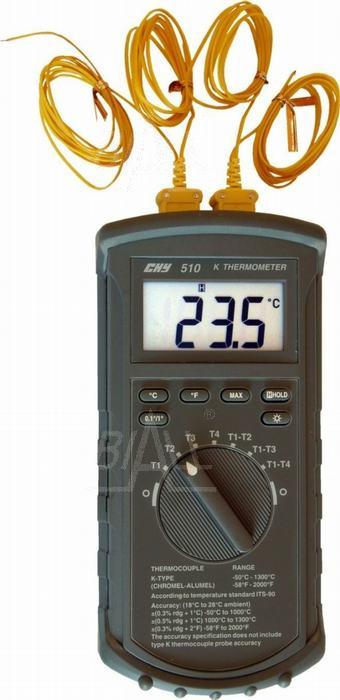 Zdjęcie produktu: CHY510 Termometr 4 kanały,  -50 do 1300°C