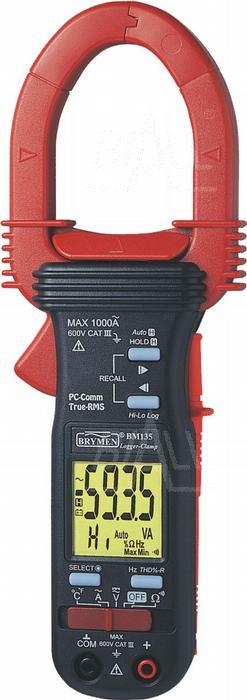 Zdjęcie produktu: BM135s Miernik cęgowy 0,01-1000 AC, logger/rejestr. USB/RS232, TRMS, THD