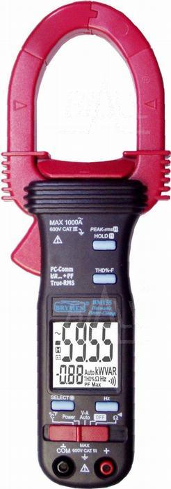 Zdjęcie produktu: BM155s Miernik cęgowy 1000A AC TRMS,kW,PF,THD,USB,Brymen