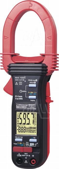 Zdjęcie produktu: BM157s Miernik cęgowy 1000A AC TRMS,kWh,PF,THD,USB,Brymen