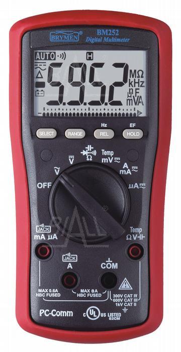 Zdjęcie produktu: BM252s Multimetr  EF, T, RS232/USB  Brymen