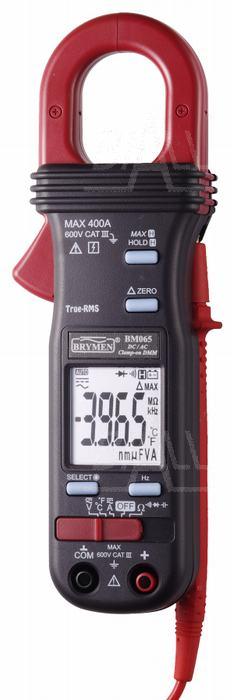Zdjęcie produktu: BM065s Miernik cęgowy 400A AC/DC TRMS,T,Hz, Cx, PEAK Hold, 30ms Brymen