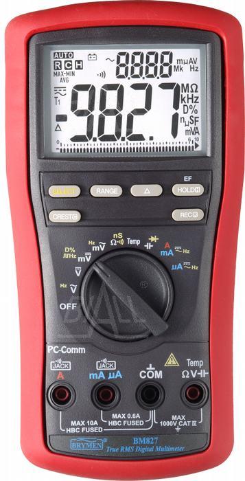 Zdjęcie produktu: BM827s  Multimetr TRMS,Temp,dual LCD,USB Brymen