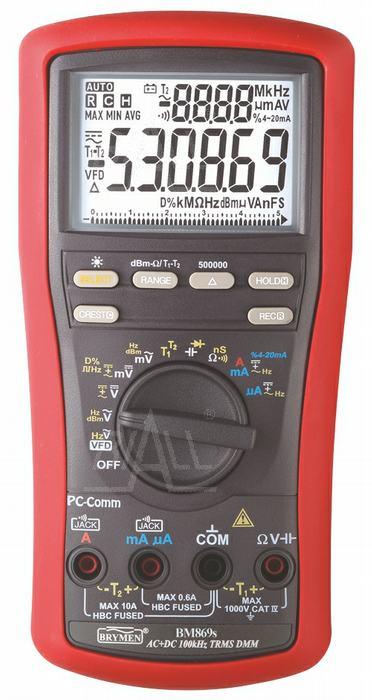 Zdjęcie produktu: BM869s  Multimetr TRMS,VFD,%4~20mA,dBm,T1/2,USB, Brymen