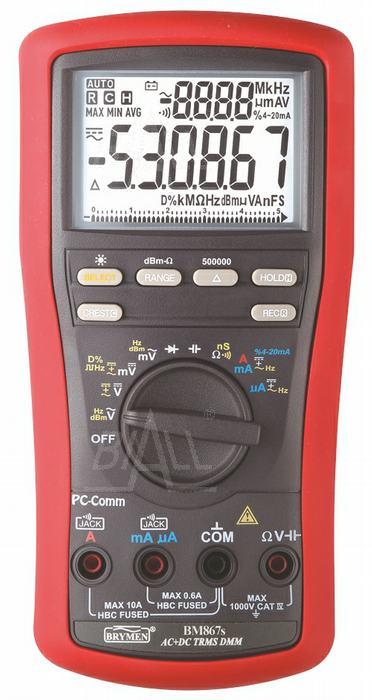 Zdjęcie produktu: BM867s  Multimetr TRMS(AC+DC),dBm,USB, Brymen