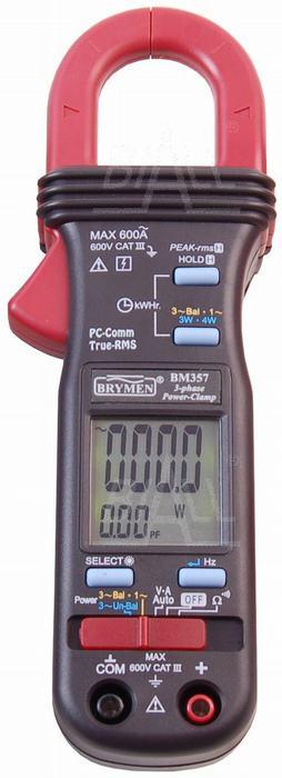 Zdjęcie produktu: BM357s Miernik cęgowy 600A AC TRMS, kW/kVA/kVAR, USB, Brymen