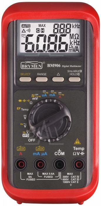 Zdjęcie produktu: BM906s  Multimetr przemysłowy VFD,Temp.      Brymen