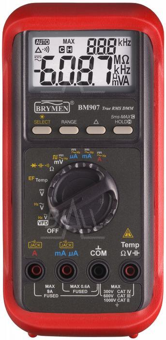 Zdjęcie produktu: BM907s  Multimetr przemysłowy TRMS, VFD,Temp. Brymen