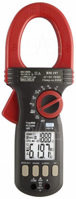 Zdjęcie produktu: BM197 Miernik cęgowy 2000A AC/DC TRMS,VFD,USB, CAT IV 1000V, Brymen