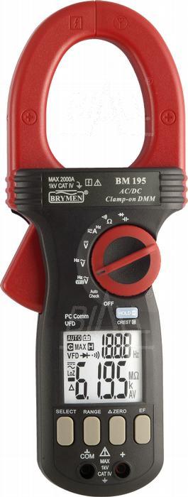Zdjęcie produktu: BM195 Miernik cęgowy 2000A AC/DC,VFD,USB  Brymen