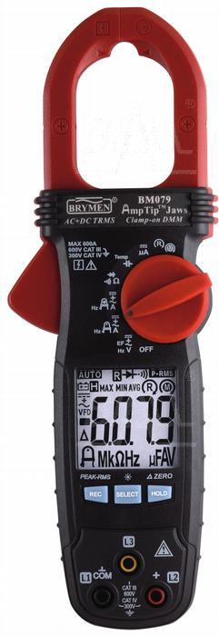 Zdjęcie produktu: BM079 Miernik cęgowy 600A AC/DC TRMS,AmpTip, w.faz, Brymen