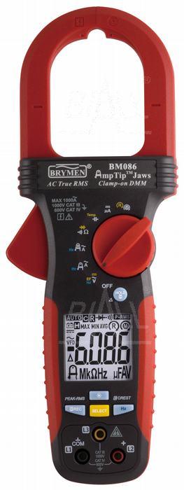 Zdjęcie produktu: BM086 Miernik cęgowy 1000A AC TRMS,AmpTip, w.faz, Brymen