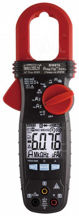 Zdjęcie produktu: BM076 Miernik cęgowy 600A AC TRMS,AmpTip, w.faz, Brymen