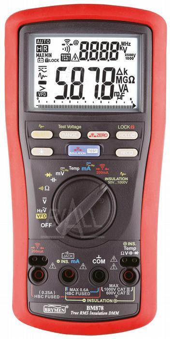 Zdjęcie produktu: BM878 Multimetr TRMS VFD Temp rezystancja izol. 50-1000V Earth Cont. 200mA