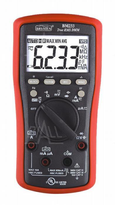 Zdjęcie produktu: BM233 Multimetr TRMS (AC+DC) VFD EF 50kHz Brymen