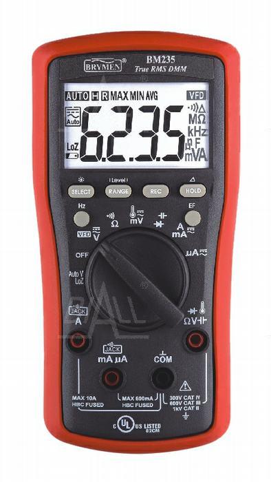 Zdjęcie produktu: BM235 Multimetr TRMS (AC+DC) VFD EF 50kHz pomiar. Temp. Brymen