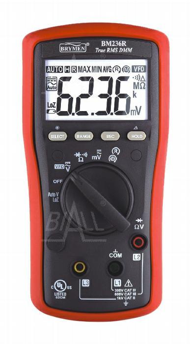 Zdjęcie produktu: BM236R Multimetr TRMS (AC+DC) VFD test wirowania faz Brymen