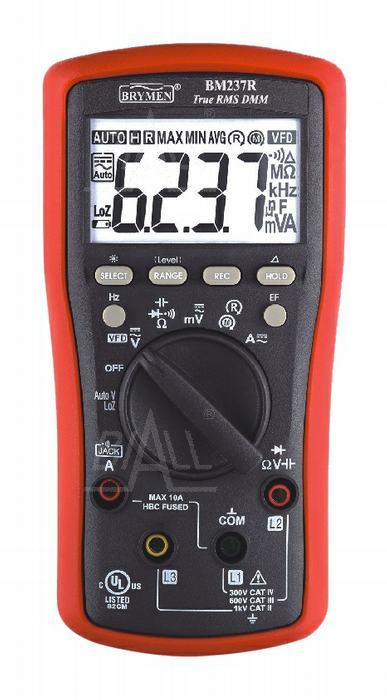 Zdjęcie produktu: BM237R Multimetr TRMS (AC+DC) VFD EF 50kHz  test wirowania faz Brymen