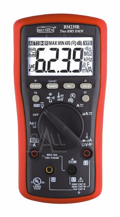 Zdjęcie produktu: BM239R Multimetr TRMS (AC+DC) VFD EF 50kHz Temp test wirowania faz Brymen