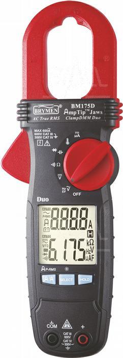 Zdjęcie produktu: BM175D Miernik cęgowy 600A AC TRMS,AmpTip ,DCAuA, 80ms PEAK, Temp,  Brymen