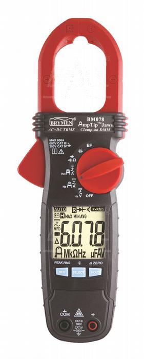 Zdjęcie produktu: BM078 Miernik cęgowy 600A AC/DC TRMS, AmpTip, Brymen