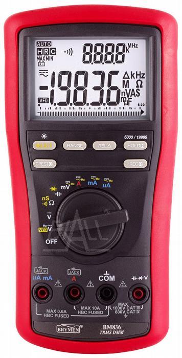 Zdjęcie produktu: BM836 Multimetr TRMS 4 1/2cyfry VFD & Hz BeepLit ACV 5kHz Brymen