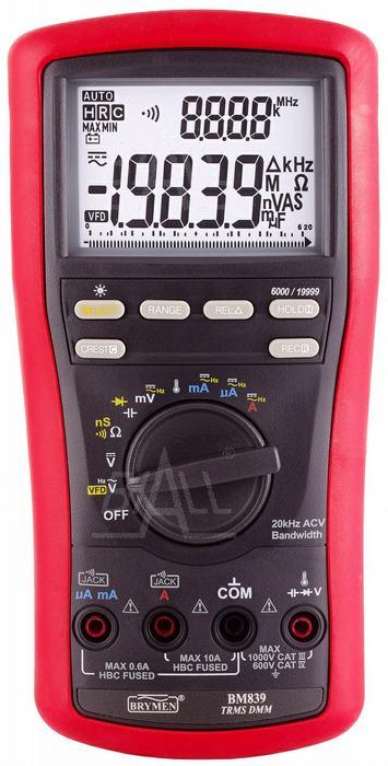 Zdjęcie produktu: BM839 Multimetr TRMS 4 1/2 cyfry VFD & Hz BeepLit  ACV 20kHz Brymen