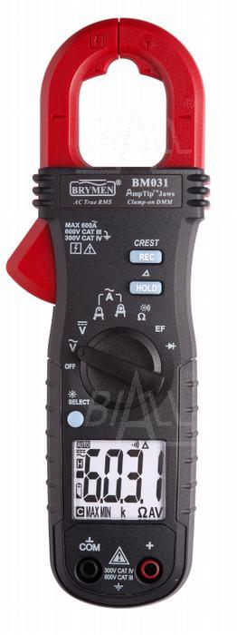 Zdjęcie produktu: BM031 Miernik cęgowy 600A AC TRMS, AmpTip, Brymen