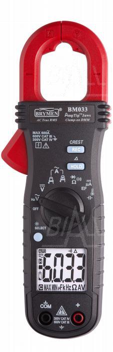 Zdjęcie produktu: BM033 Miernik cęgowy 600A AC TRMS, AmpTip,Cx,Temp,Aµ DC  Brymen