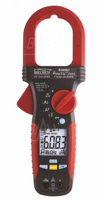 Zdjęcie produktu: BM083 Miernik cęgowy 1000A AC TRMS, AmpTip Brymen