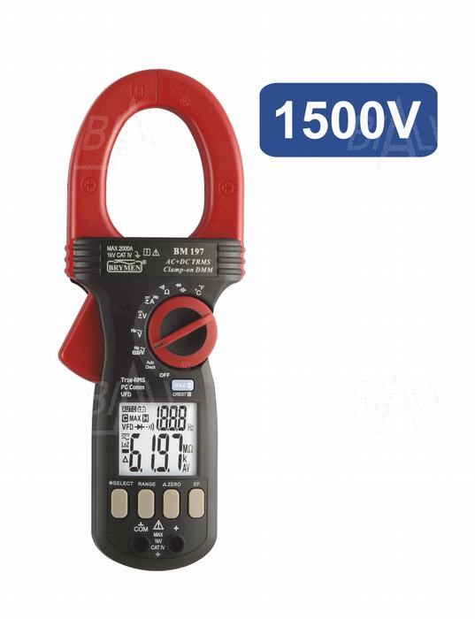 Zdjęcie produktu: BM197VDC1500 Miernik cęgowy  2000A AC/DC TRMS,VFD,USB,CAT IV1000V