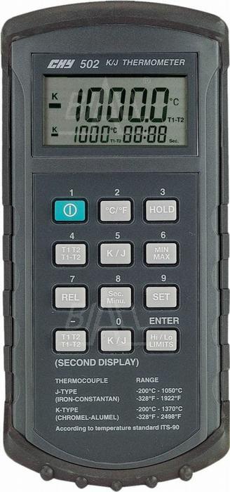 Zdjęcie produktu: CHY502 Termometr 2 kanałowy kl 0,05%  (4 1/2cyf.)