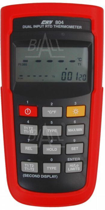 Zdjęcie produktu: CHY804 Termometr laboratoryjny 2-kan. Pt100 0,05%  CHY