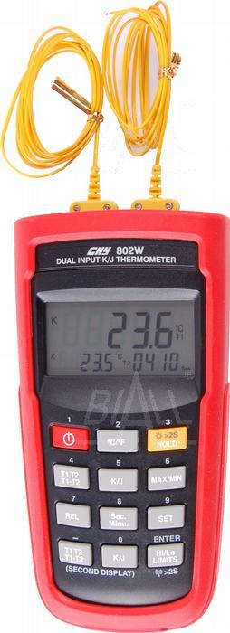 Zdjęcie produktu: CHY802W Termometr 5c,2 kan.K/J + odczyt zdalny USB