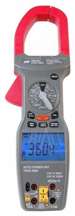 Zdjęcie produktu: CIE3604C Miernik cęgowy 1000A AC TRMS Test.izol. CIE