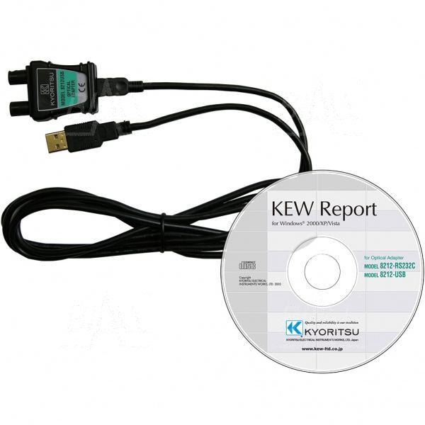 Zdjęcie produktu: KEW8212USB Kabel z optozłączem i KEW Report do KEW4106,6010B,6016,6050,6024PV