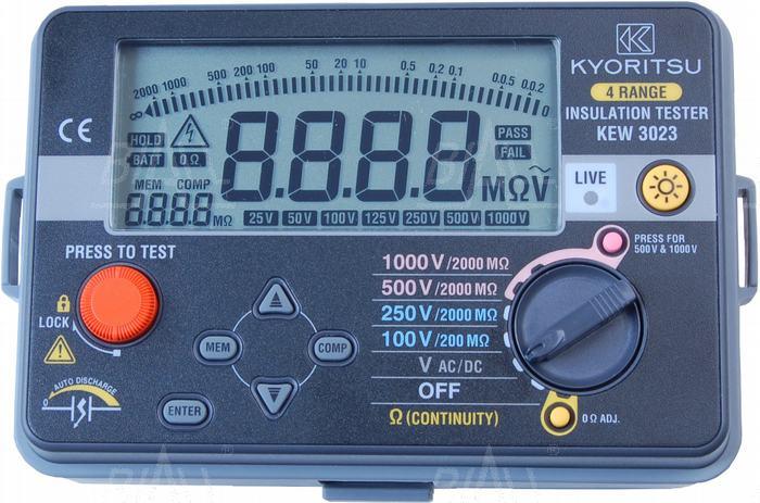 Zdjęcie produktu: KEW3023 Miernik rezystancji izolacji 100V-1000V   Kyoritsu