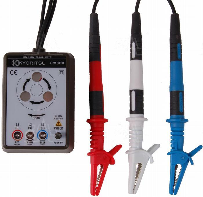 Zdjęcie produktu: KEW8031F Tester kolejności faz z bezpiecznikami Kyoritsu