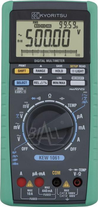 Zdjęcie produktu: KEW1061 Multimetr TRMS-20kHz,MEM,USB  Kyoritsu
