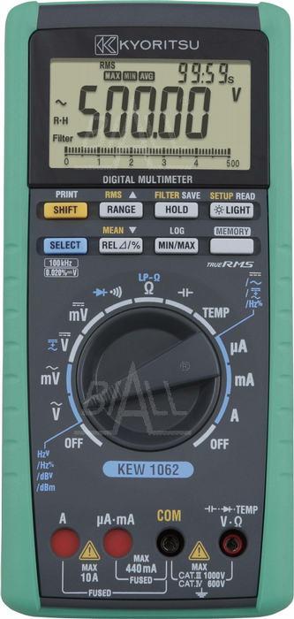 Zdjęcie produktu: KEW1062 Multimetr TRMS-100kHz,MEM,USB  Kyoritsu
