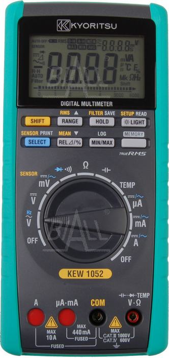 Zdjęcie produktu: KEW1052 Multimetr TRMS-1kHz,MEM,USB, Kyoritsu