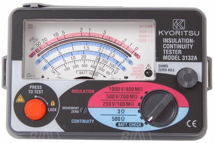 Zdjęcie produktu: KEW3132A Analogowy miernik rezystancji izolacji 250-500-1000V  Kyoritsu
