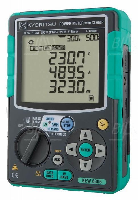 Zdjęcie produktu: KEW6305-00 Analizator mocy 3-faz. (bez cęgów)  Kyoritsu