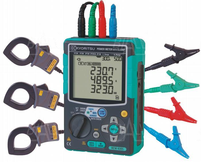 Zdjęcie produktu: KEW6305-01 Analizator mocy 3-faz.+3 cęgi 500A Kyoritsu