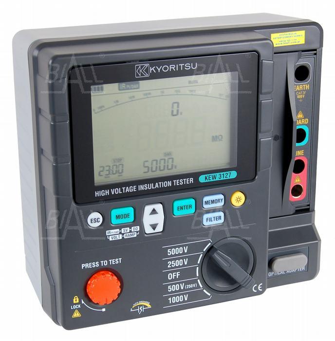 Zdjęcie produktu: KEW3127 Miernik rezystancji izolacji 5000V, DAR, PI, RAMP   Kyoritsu