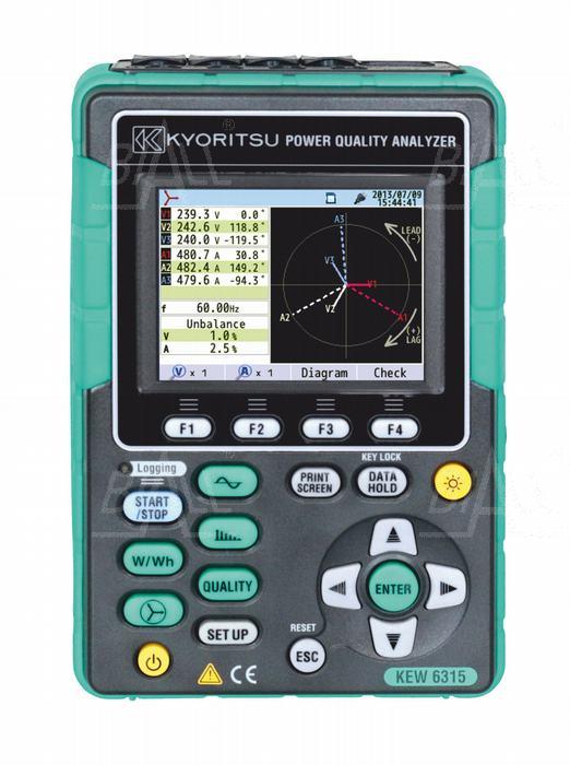 Zdjęcie produktu: KEW6315-03 Analizator jakości en.+ 3 cęgi elast. 1000A