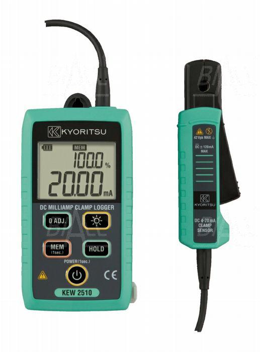 Zdjęcie produktu: KEW2510 Miernik cęgowy pętli 4~20mA/0~100%, 120mA, Bluetooth, logger, Kyoritsu