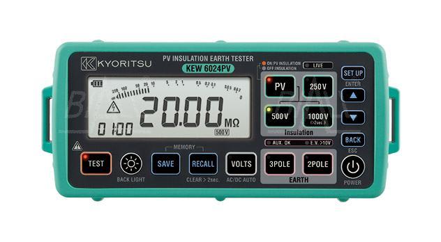 Zdjęcie produktu: KEW6024PV Miernik rezystancji izolacji, uziemienia paneli PV Kyoritsu